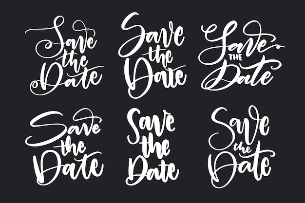 Save the date lettering set