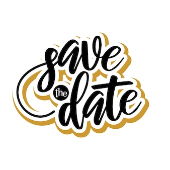 Save the date lettering typography design