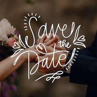 Salva la data scritta con foto