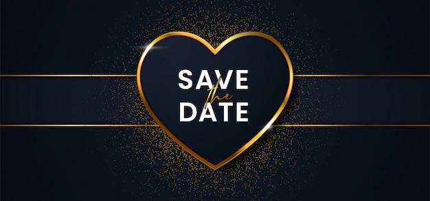 Save the date luxury wedding background