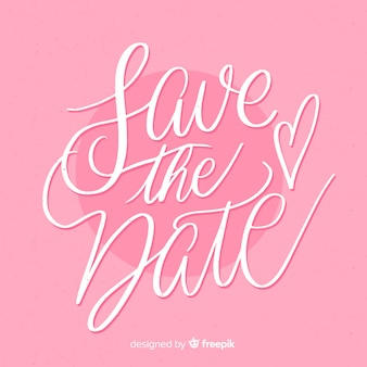 Save the date pink background