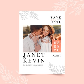 Save the date template with photo