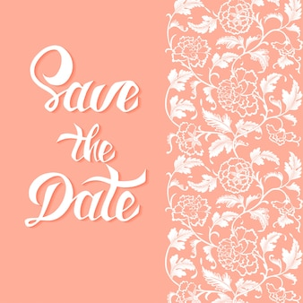 Save the date vector card template