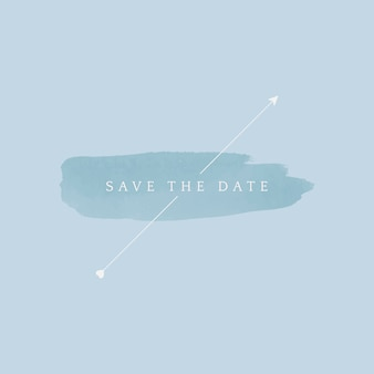 Save the date wedding badge vector