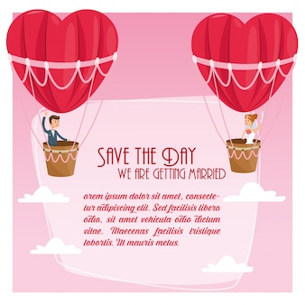 Save the date wedding icon