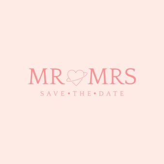 Save the date wedding invitation badge design vector