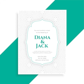 Save the date wedding invitation card template