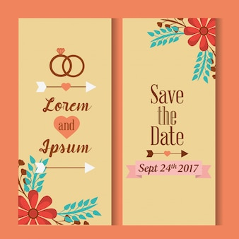 Save the date for wedding invitation cards