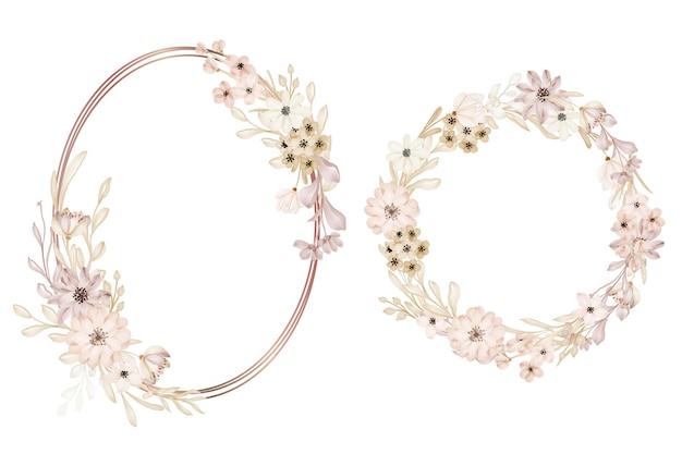 Salva la data e il modello di design morbido del fiore dell'invito al matrimonio