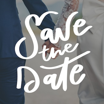 Save the date with photo template