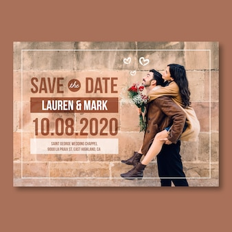 Save the date with photo