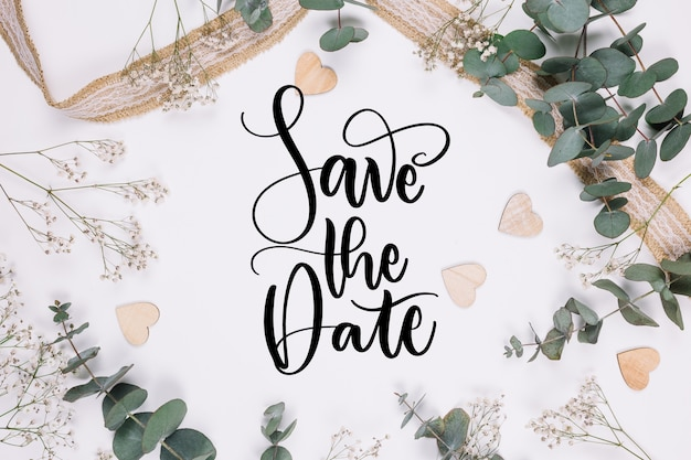 Save the date with picture