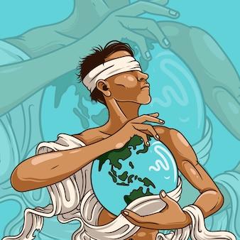 Save earth artwork