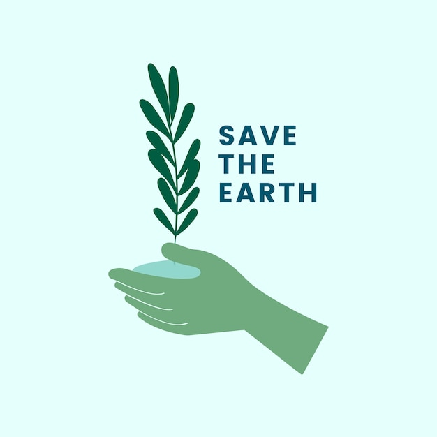 Save the earth and go green icon