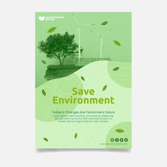 Salvare il modello di volantino verticale dell'ambiente