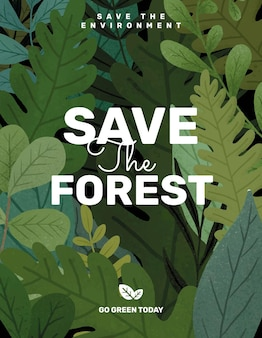 Save the forest flyer editable template