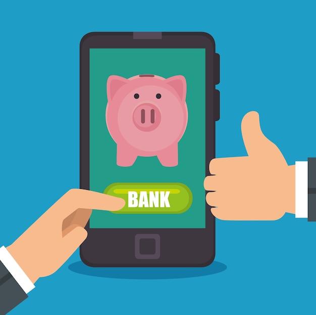 Концепция экономии денег для мобильного банкинга