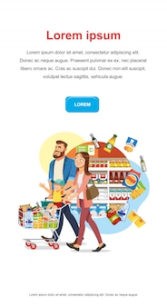 Save money discount in food shop vector web banner