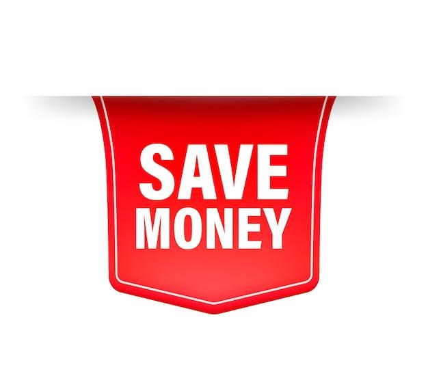 Save money red ribbon