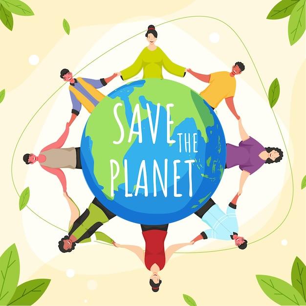 Save nature concept illustration