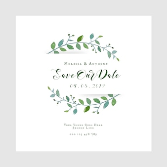 Save our date wedding invitation card