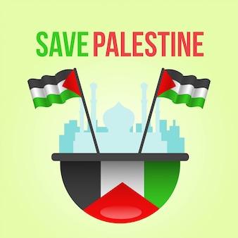 Save palestine illustration