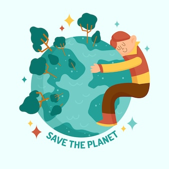 Save the planet concept illustrated