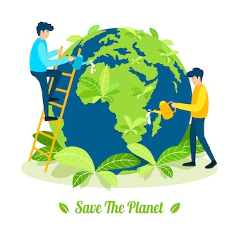 Save the planet concept