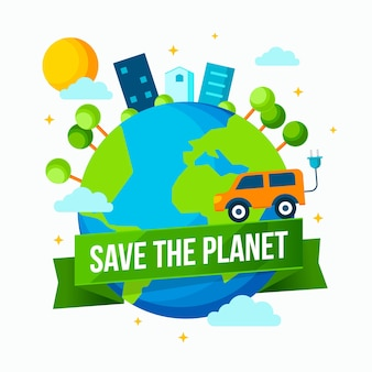 Save the planet illustration theme