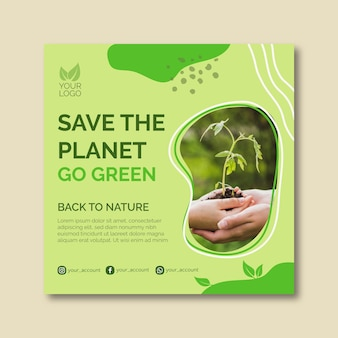 Save the planet template design