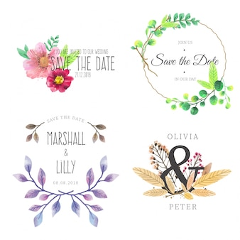 Save the date Badge Collection