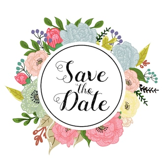 Save the date flower background