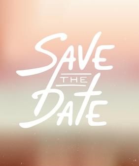 Пригласительный билет save the date современная каллиграфия