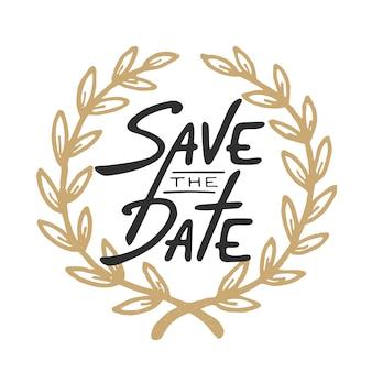 Сохраните шаблон поздравительной открытки «дата приглашения»