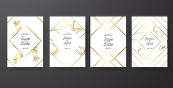 Save the Date Wedding Golden Template