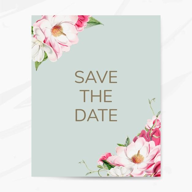 Сохранить дату макияж вектор свадебного приглашения