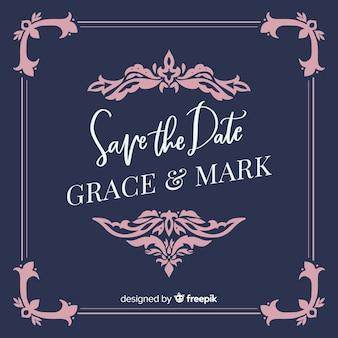 日付の結婚式の招待状を保存する