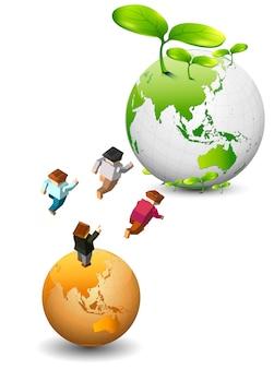 Сохранить день земли и мира с семьей
