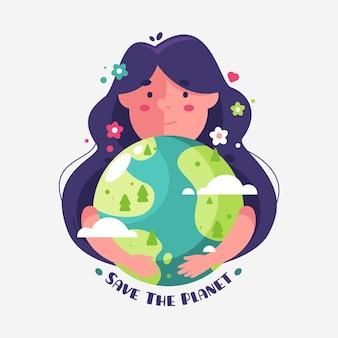 イラストの惑星を救う