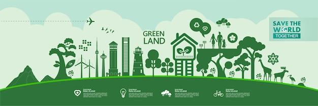 一緒に世界を救う緑の生態図。