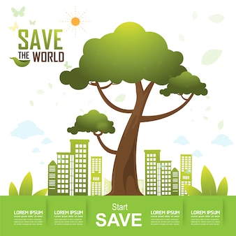 Save the World Vector