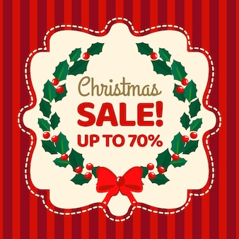 Save up christmas sale in flat design