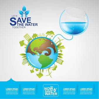Save the water vector water is life