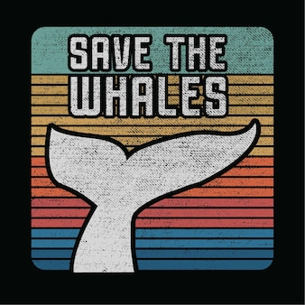 Save the whales illustration