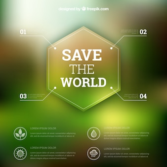 Save the world template infographic