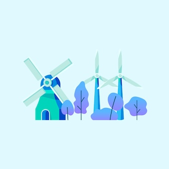 Saving energy with wind power