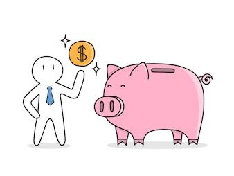 Saving money background