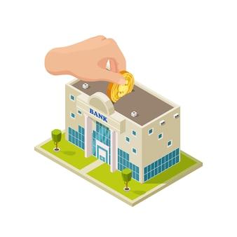 Saving money in bank