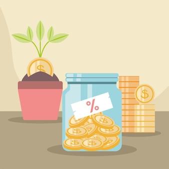 Saving money income