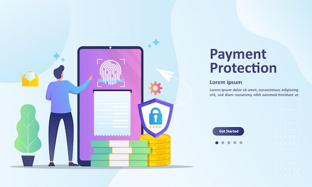 Saving money information landing page template